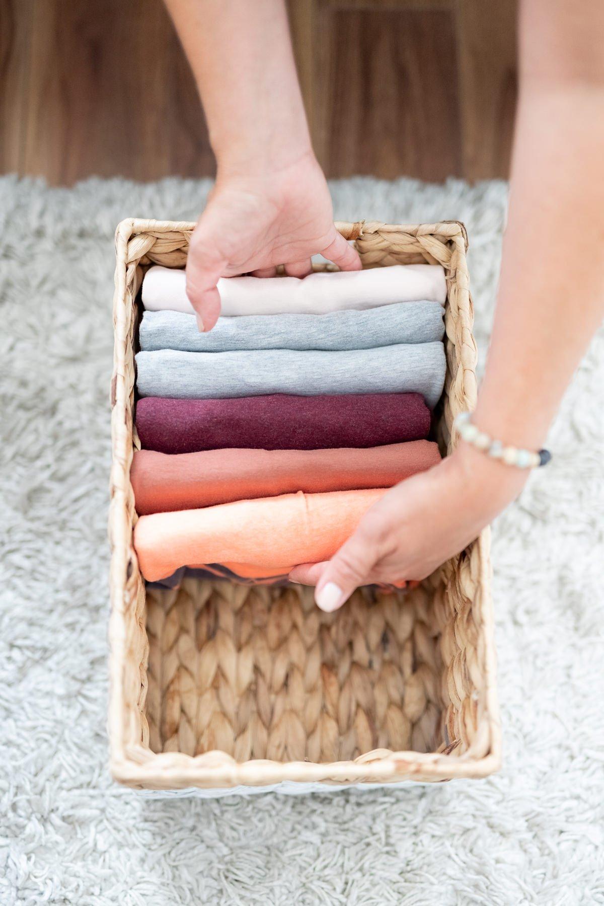 business lifestyle portrait folding clothes