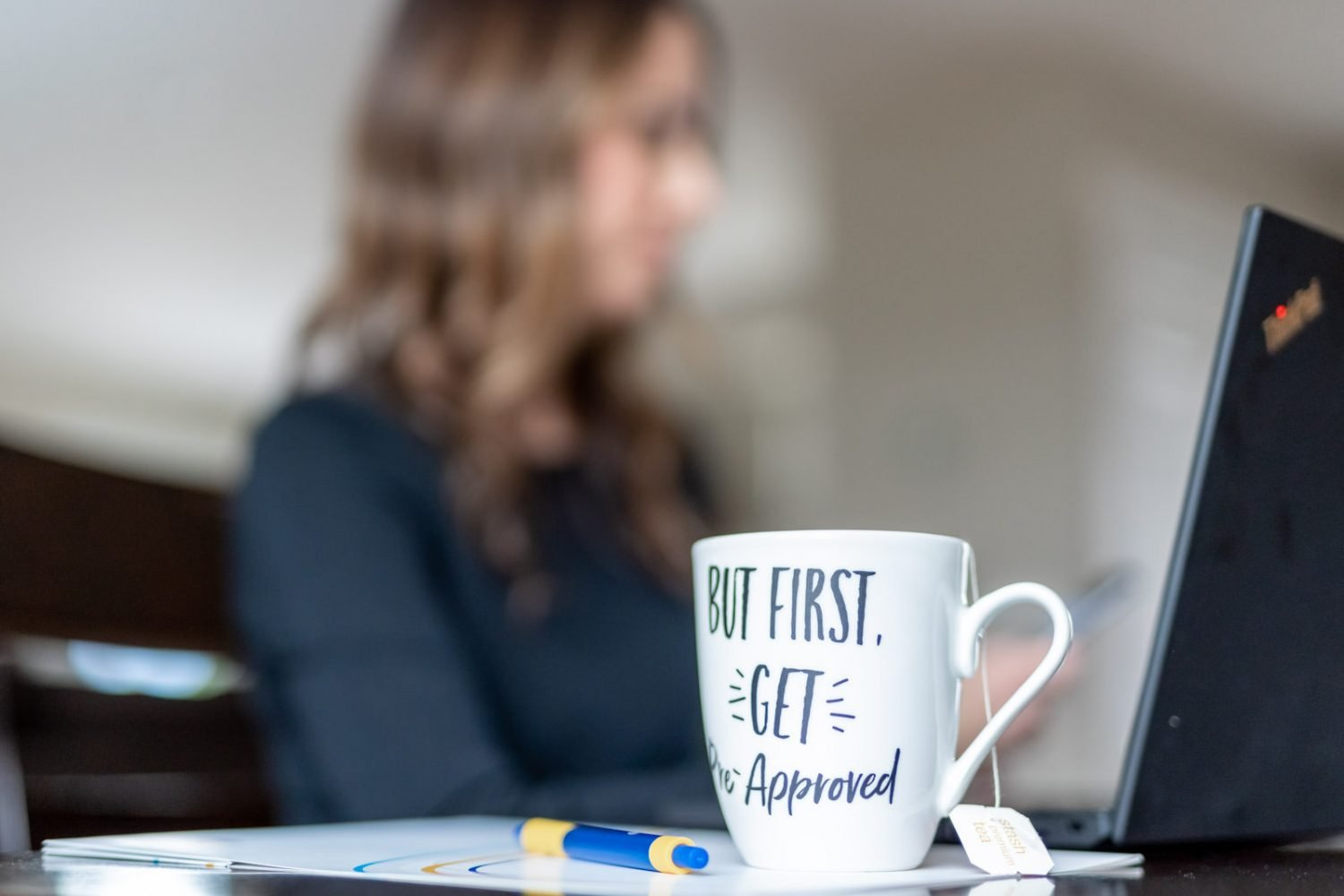 pre-approved mortgage mug for personal branding photoshoot